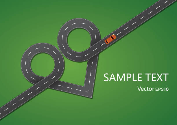 Heart shape road Gradient and transparent effect used. car love stock illustrations