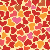 Heart shape seamless color pattern. Easy to use. If you need some assistance, just sitemail me.