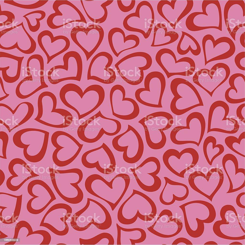 Heart shape seamless pattern vector art illustration