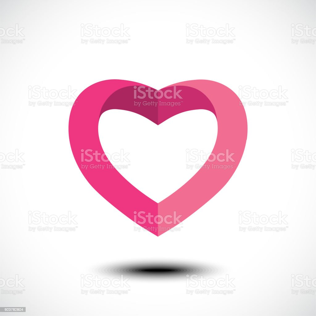 Heart Shape Symbol Design Stock Vector Art More Images Of Abstract
