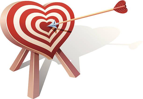 Royalty free arrow on target heart bullseye vector illustration clip heart shape target vector art illustration altavistaventures Image collections