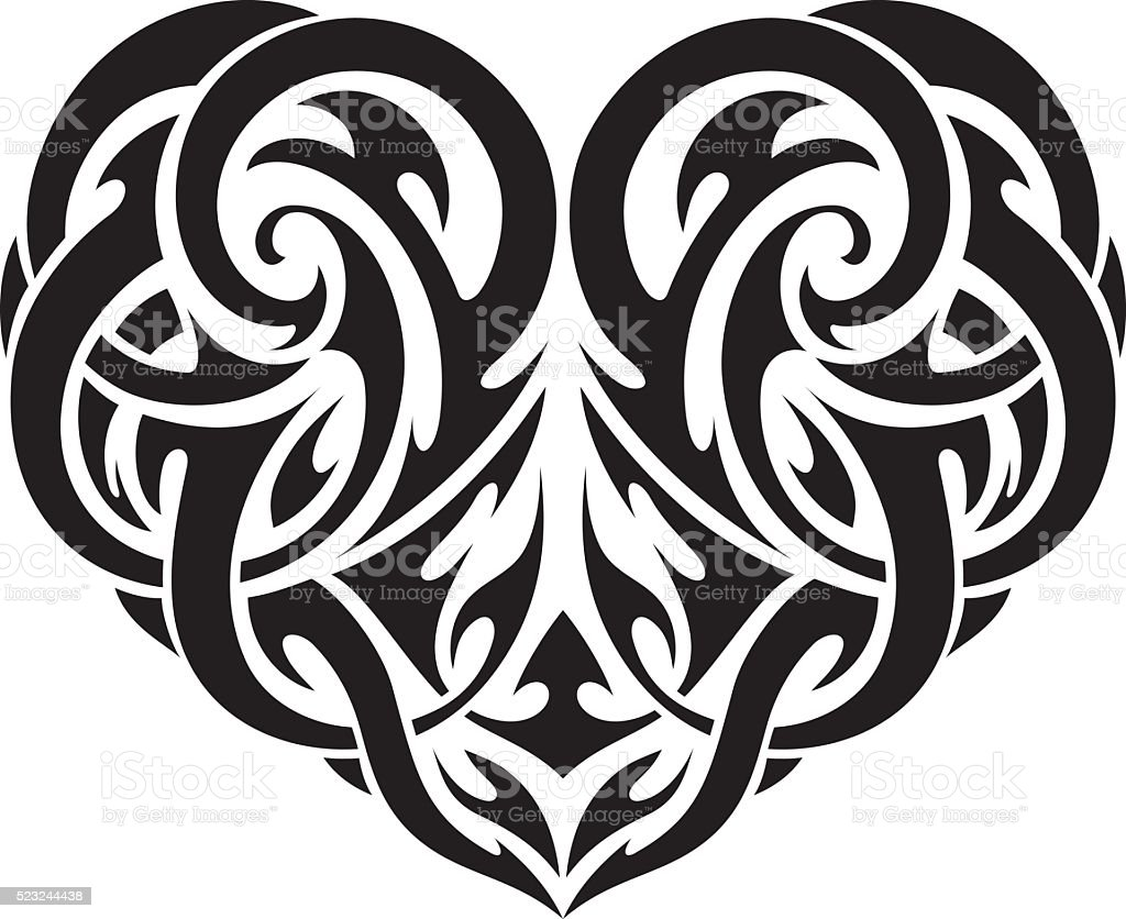 Heart Shape Tattoo Stock Illustration Download Image Now Istock