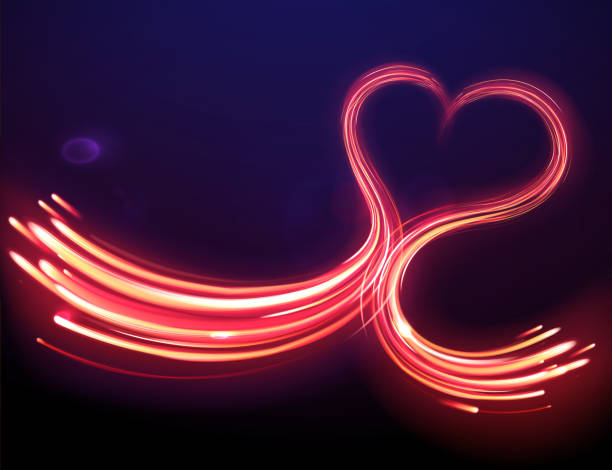 heart shape vector art illustration