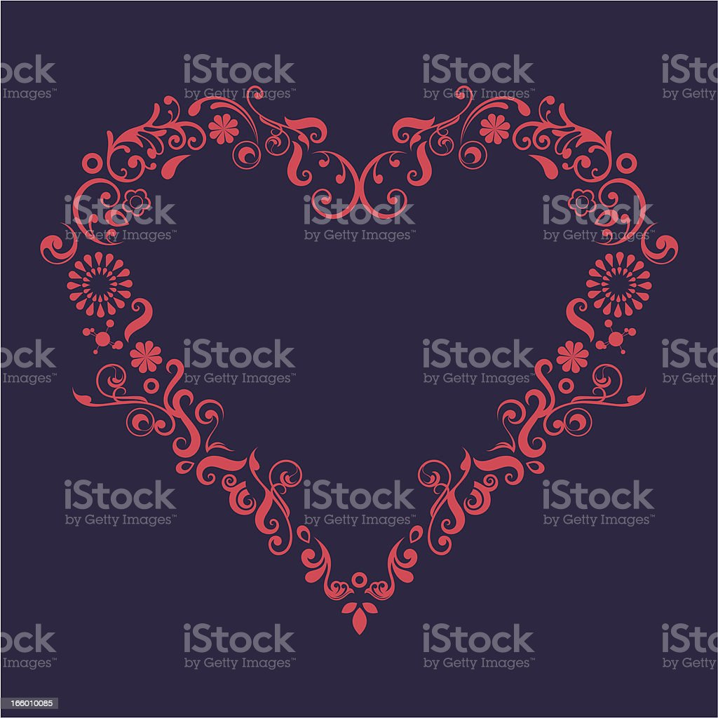 Heart shape. royalty-free stock vector art