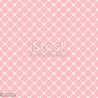 istock Heart shape vector seamless pattern (tiling) 467429157