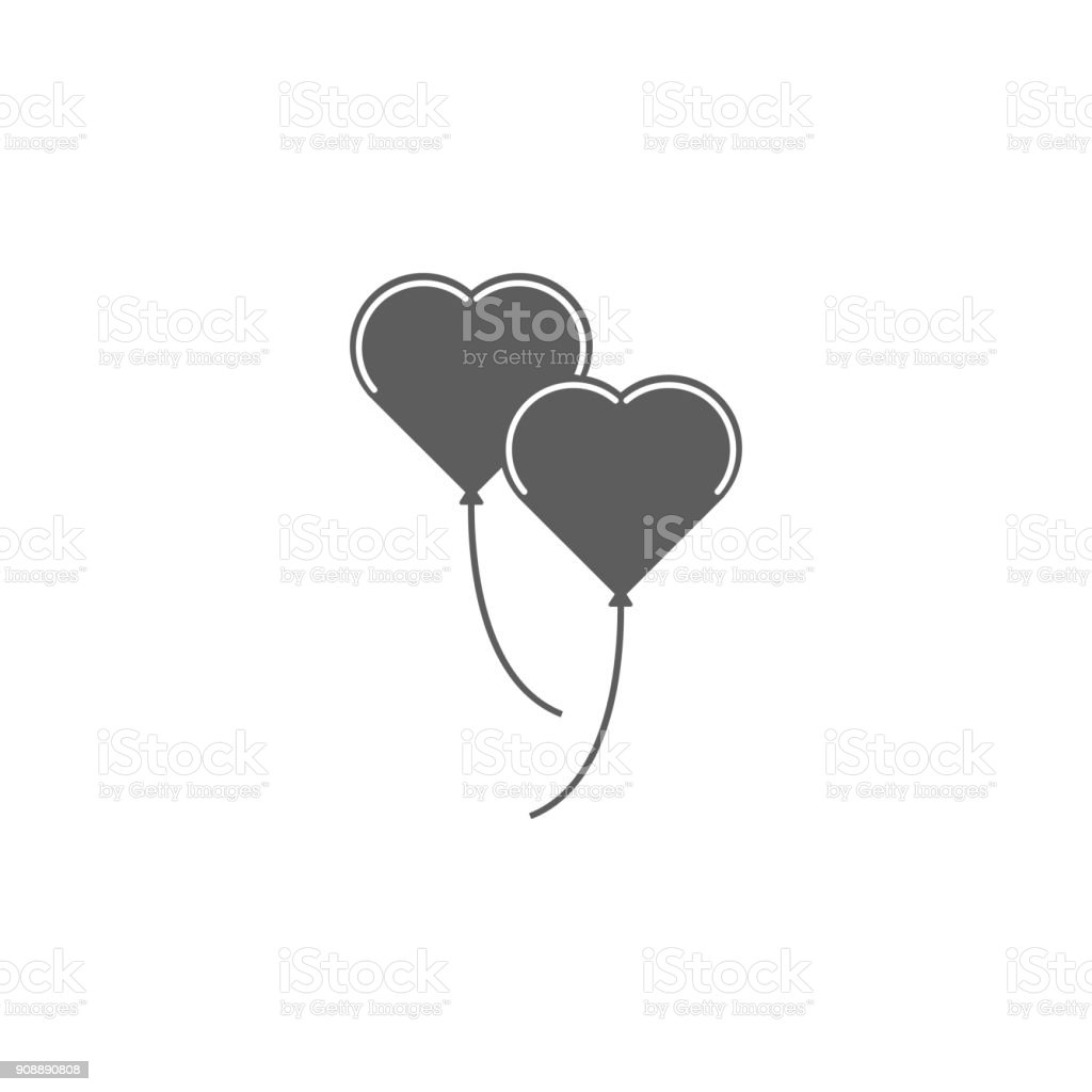 heart shaped balls icon. Elements of Valentine's Day icon. Premium quality graphic design icon. Simple icon for websites, web design, mobile app, info graphics vector art illustration