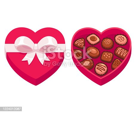 istock Heart shaped box of chocolates 1224012087