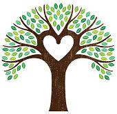 Heart shaped branch tree