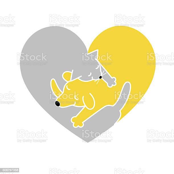 Heart shaped cat and dog sleeping together vector id506297058?b=1&k=6&m=506297058&s=612x612&h=vkfylxgqp19xlt2vfrx8c1ogxwamu7x7kmlkywl vey=