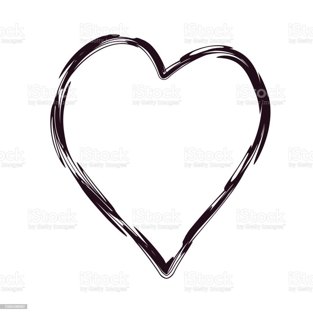 Heart Shaped Frame Vector Illustration Stock Vector Art & More ...