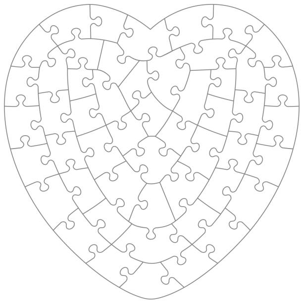 royalty free heart puzzle piece background clip art vector images