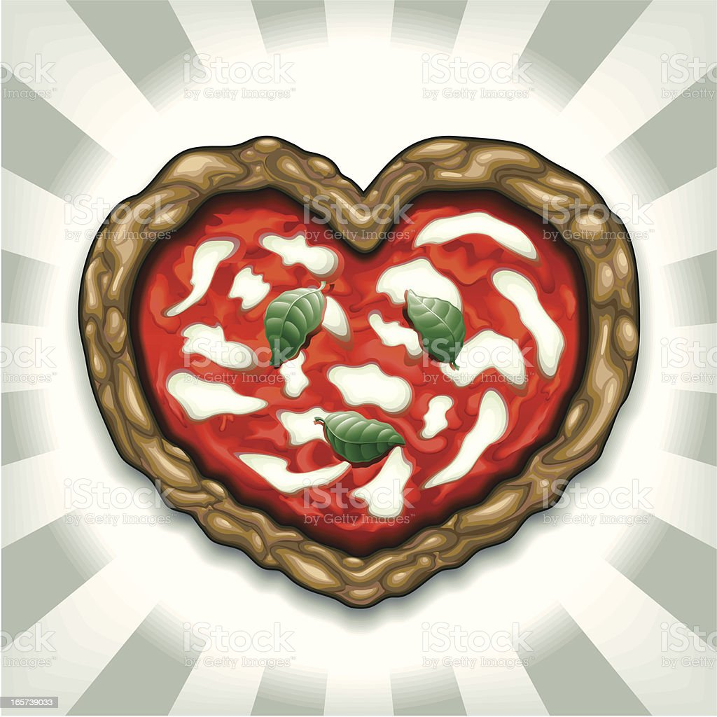Heart Shaped Margherita Pizza royalty-free heart shaped margherita pizza stock vector art & more images of baked