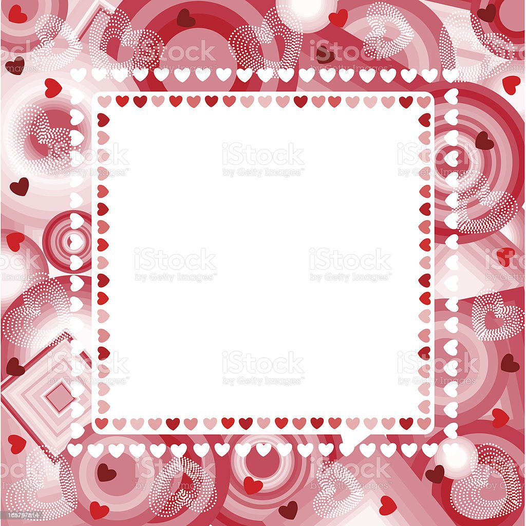 Heart Shaped Pink Frame With Circles royalty-free stock vector art