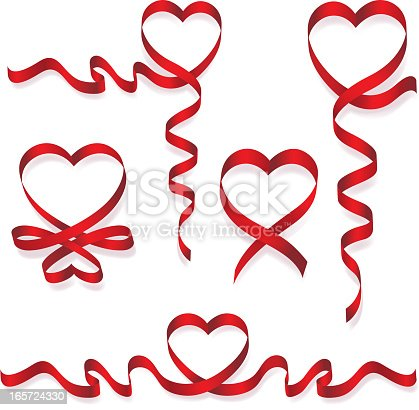 istock Heart Shaped Ribbon 165724330