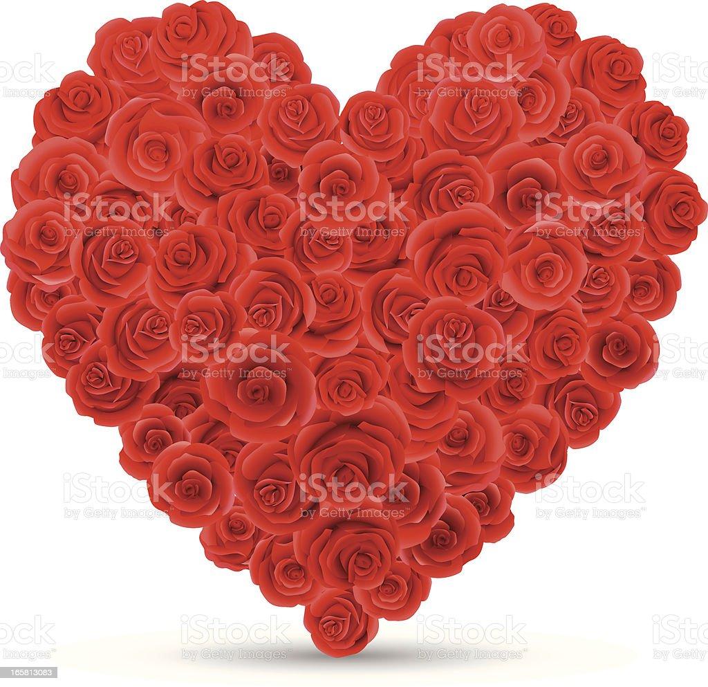 Heart Shaped Roses royalty-free stock vector art