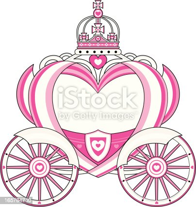 Heart Shaped Royal Carriage Stock Vector Art & More Images ...