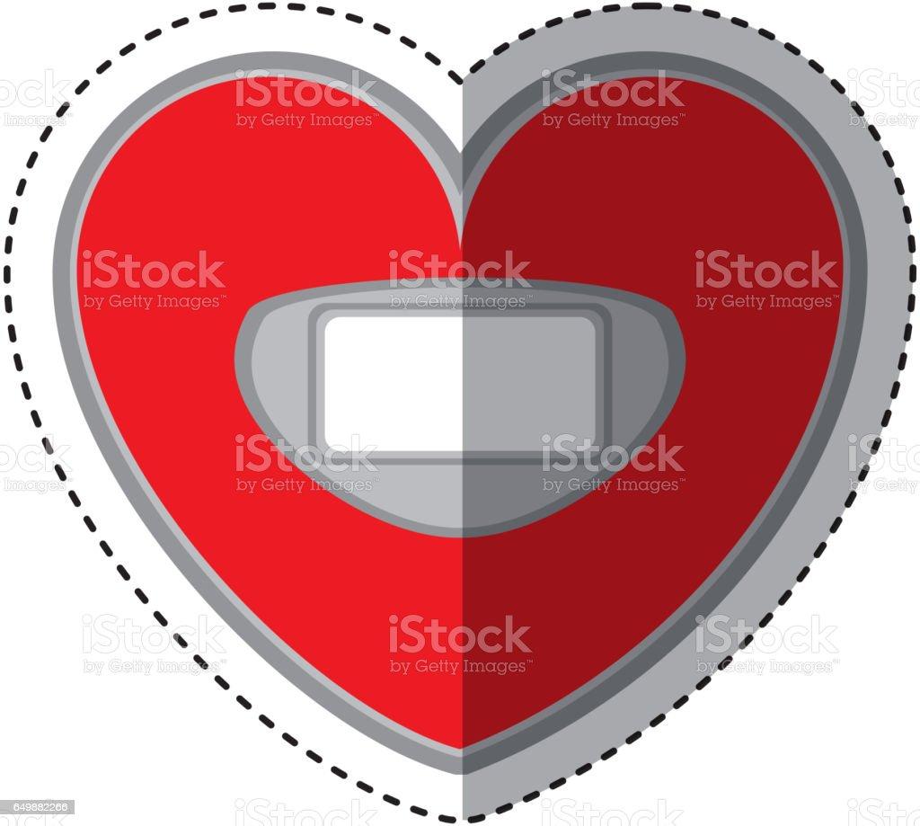 Heart shaped scale balance digital icon stock vector art 649882266 heart shaped scale balance digital icon royalty free stock vector art biocorpaavc