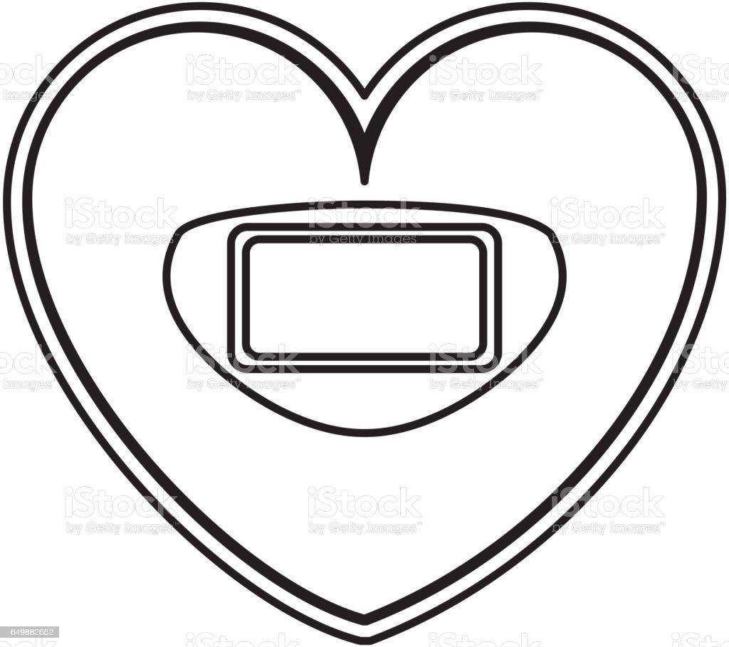 Heart shaped scale balance digital icon stock vector art more heart shaped scale balance digital icon royalty free heart shaped scale balance digital icon stock biocorpaavc