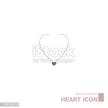 Heart shaped symbol design. Isolated on white background.