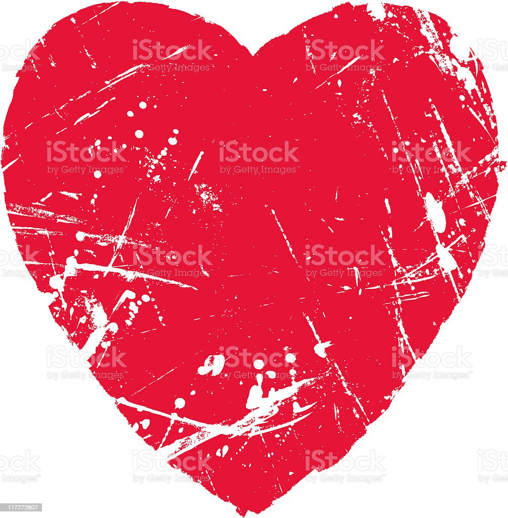 Heart Shaped Texture royalty-free stock vector art