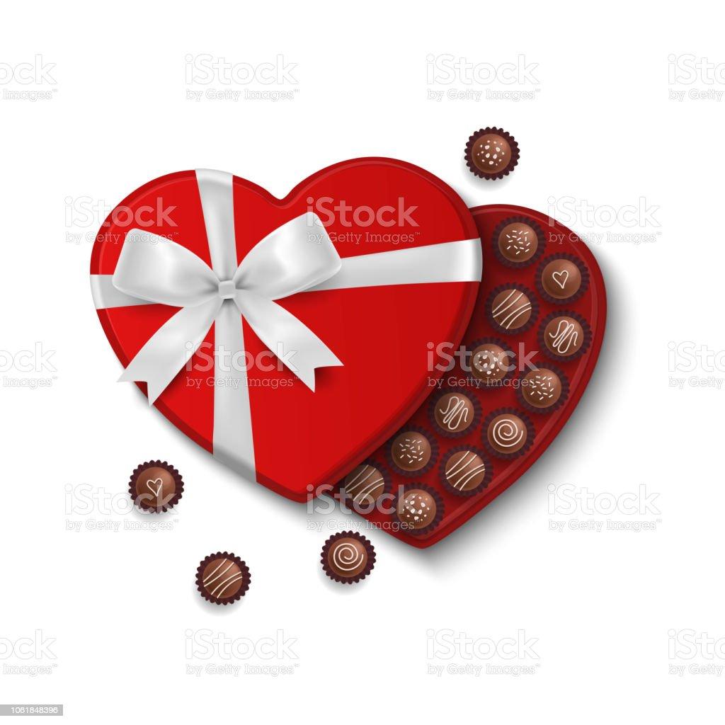 Valentinstag Pralinen In Herzform Geschenkbox Valentines Tag