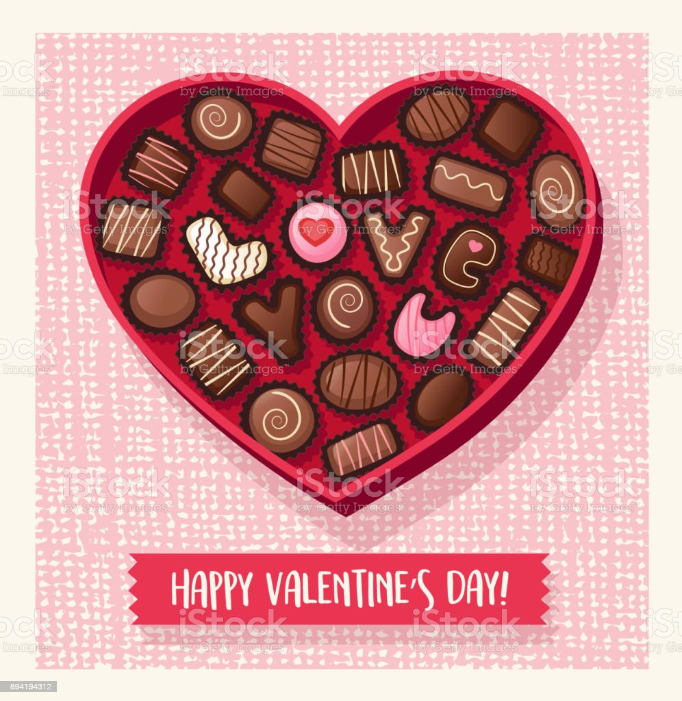 Royalty Free Valentines Chocolate Clip Art Vector Images
