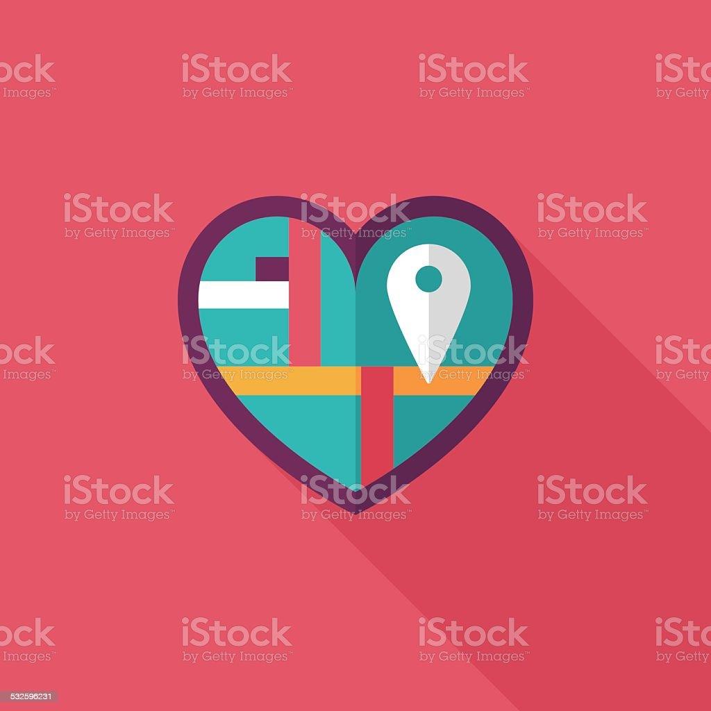 Heart Shaped Wedding Invitation Flat Icon With Long Shadoweps10 ...