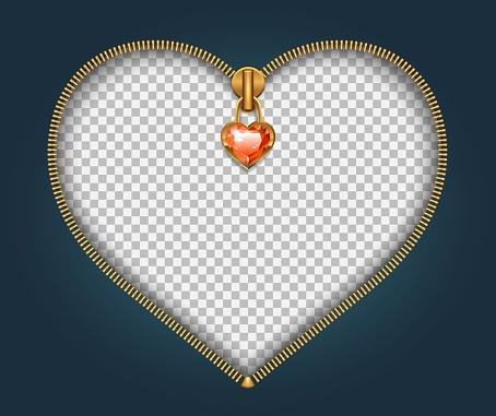 heart shaped zipper