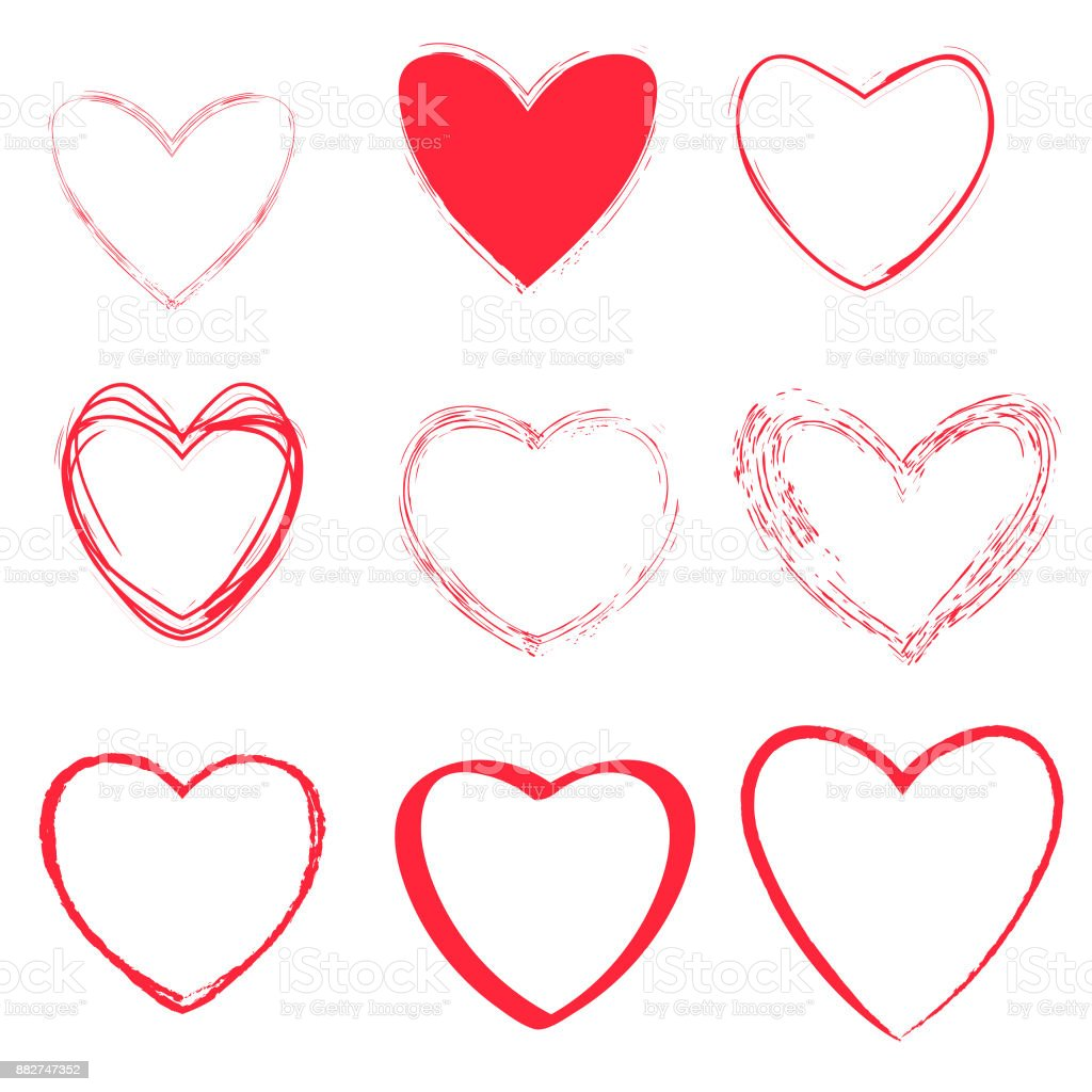 Heart shapes collection royalty-free heart shapes collection stock vector art & more images of abstract