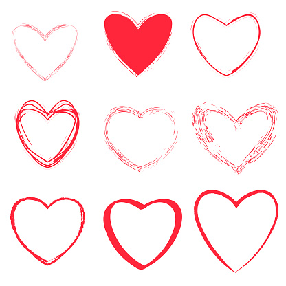 Heart shapes collection