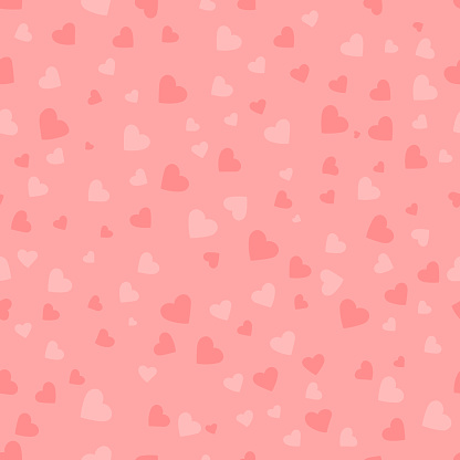 heart shapes. vector seamless pattern. pink wedding repetitive background. fabric swatch. wrapping paper. continuous print. saint valentines day. design element for decor, apparel, phone case, textile