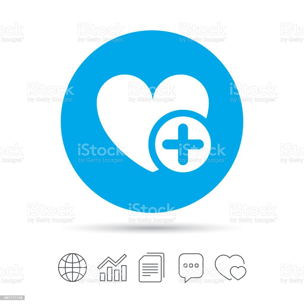 Heart Sign Icon Add Lover Symbol Stock Vector Art More Images Of