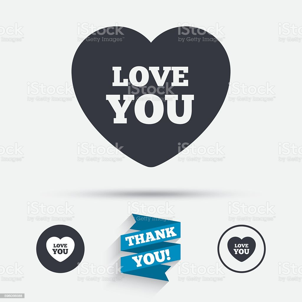 Heart sign icon. Love you symbol. royalty-free heart sign icon love you symbol stock vector art & more images of badge