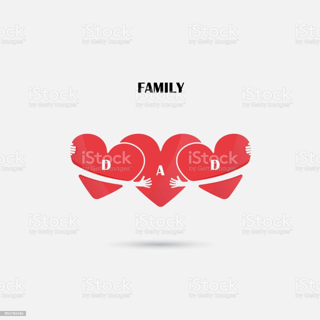 Plantilla de diseño de vectores de señales de corazón. Concepto del amor y  la familia 541669fff17e5