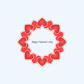 istock Heart signs.Vector decorative frame for greeting card or wedding invitation.Elegant element for design template.Valentine's Day abstract background.Love and Wedding concept. 876573102