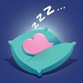 Heart Sleeping On a Cushion