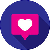 istock Heart Speech Bubble Icon Flat Circle 1187234012