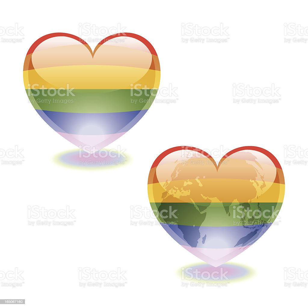 Heart Sphere of LGBT Pride Vector royalty-free stock vector art
