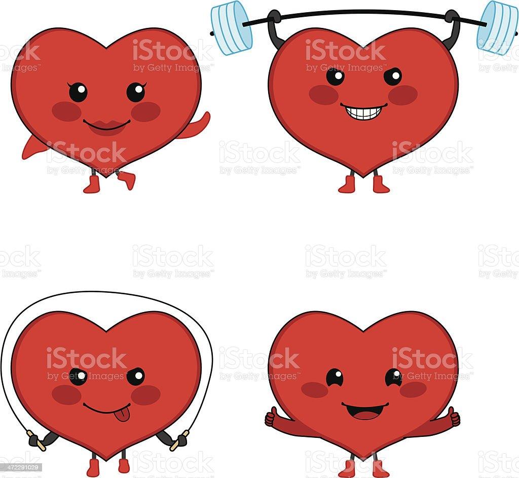 Heart Sport vector art illustration