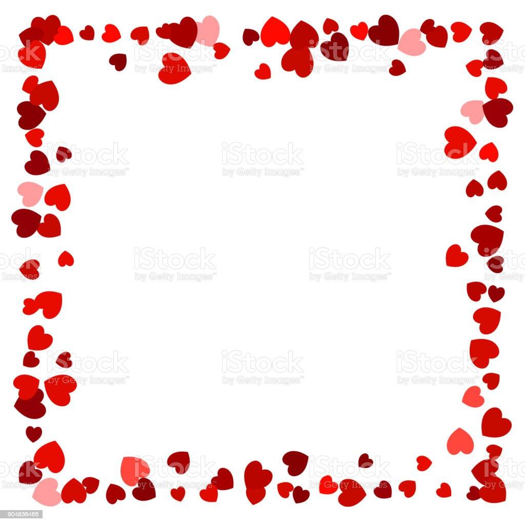 Herz Entdeckt Leeren Roten Rahmen Für Den Einsatz Als ...