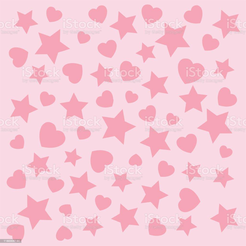 ハートスター抽象的なテクスチャペッターン壁紙デザインのピンクの背景