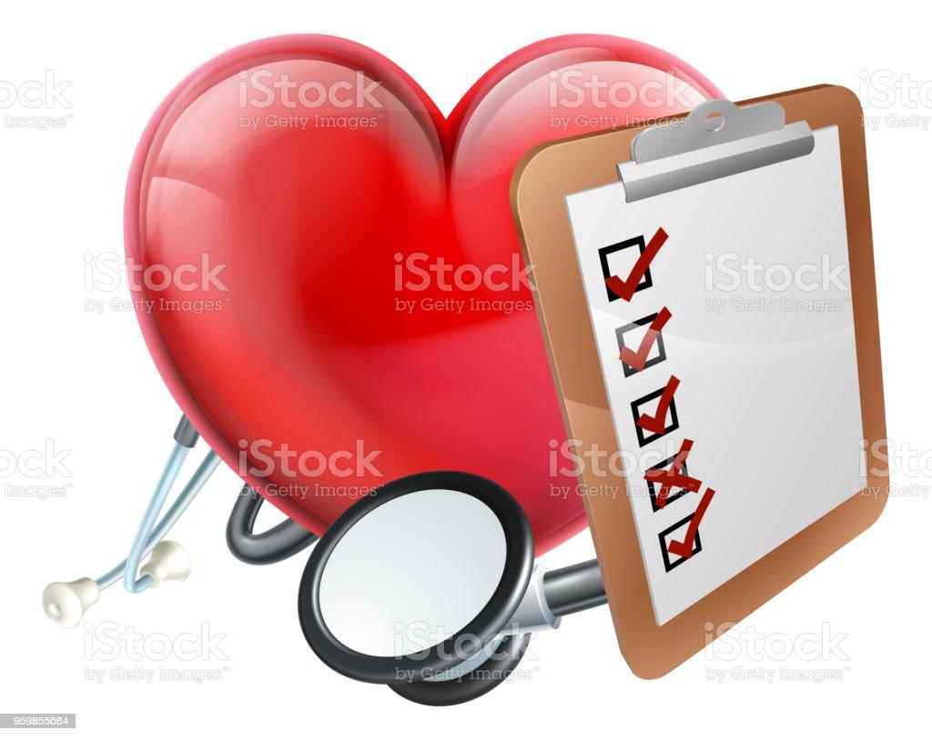 Ilustración De Concepto Médico De Corazón Estetoscopio