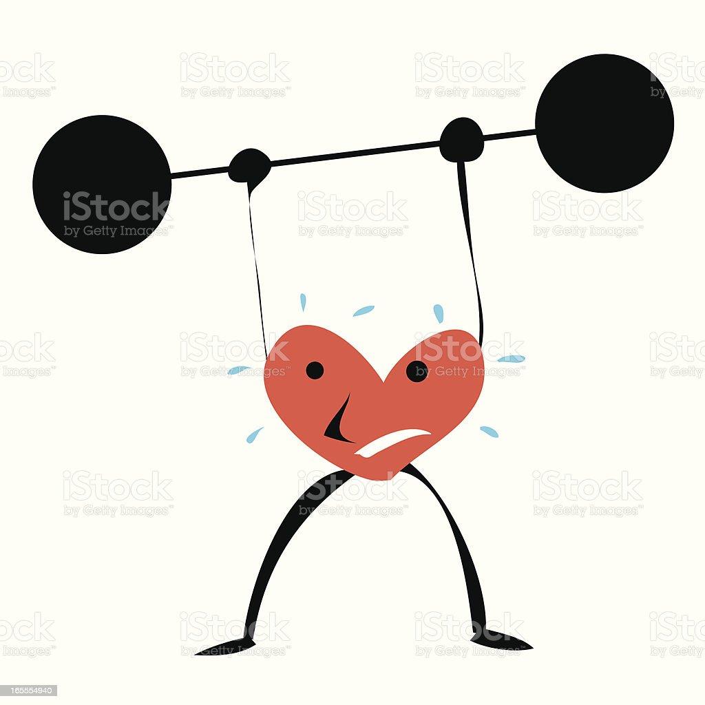 Corazón de concentración - ilustración de arte vectorial
