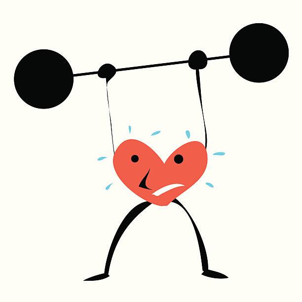Heart strength vektorkonstillustration