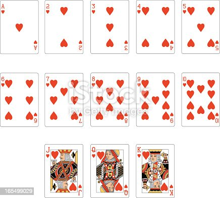 istock Heart Suit Two Playing Cards 165499029