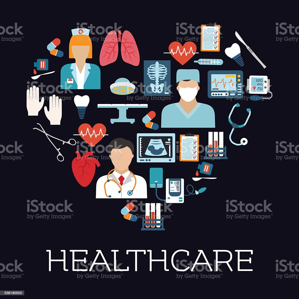 Heart Symbol With Healthcare And Medical Icons Stock Illustration Download Image Now Istock