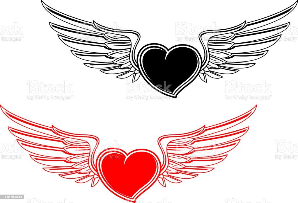 Heart tattoo royalty-free stock vector art