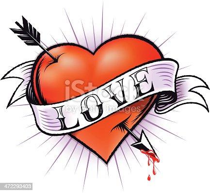 istock Heart Tattoo 472293403
