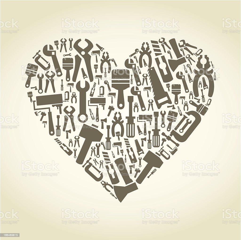 Heart the tool royalty-free stock vector art