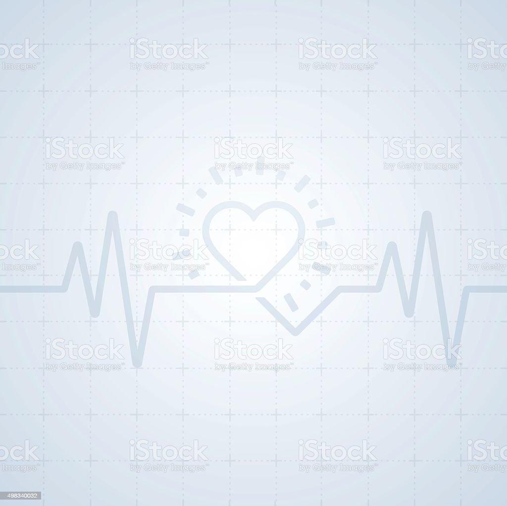 Heart Trace Background vector art illustration